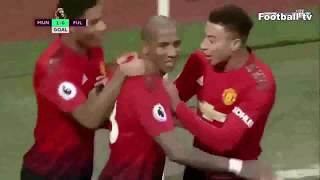 Manchester United vs Fulham 4-1 All Goals 12/8/18