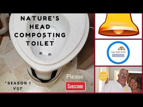 Composting toilet Nature's Head  install  Season 1 V07