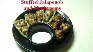 Sausage And Cheese Stuffed Jalapeno's And Mushrooms ( Low Carb )