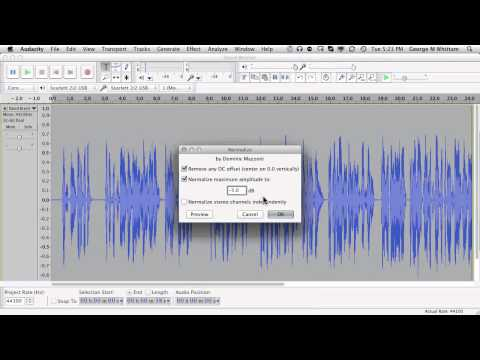 Audacity 2.0 Tutorial- Using Effects Chains