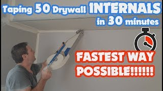 How to Mud & Tape an Inside Corner of Drywall Fast with a Mud Box