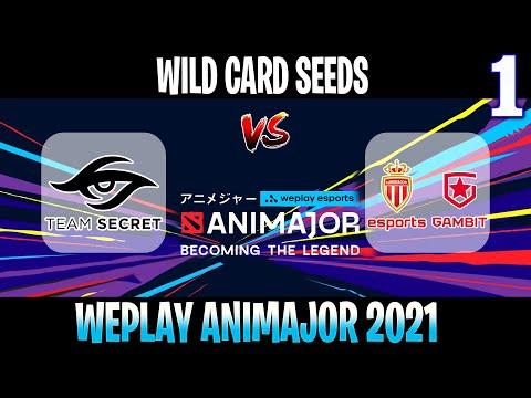 Secret contre ASM Gambit Jeu 1 | Bo2 | Wild Card Seeds WePlay AniMajor DPC 2021 | DOTA 2 EN DIRECT