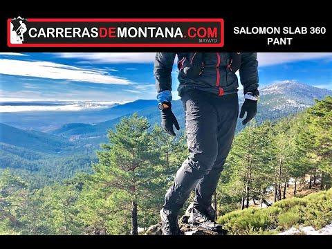 SALOMON SLAB 360 PANTS: Pantalón Montaña Membrana Pertex Shield 20k-20k. Análisis Por Mayayo
