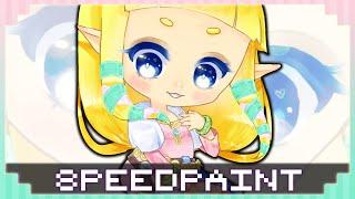 【Speedpaint】| Skyward Sword: ZELDA chibi ☆