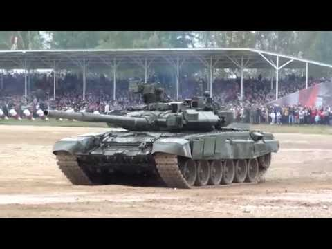 T-90 & T-80 tanks Missile Firing (Live Fire In Alabino)