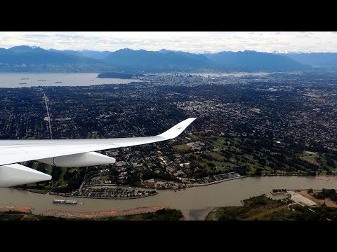 [GO-AROUND] Scenic approach over Vancouver and the Coast Mountains in Airbus A350
