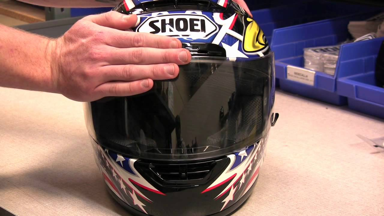 35529629 How to Replace the Faceshield on a Shoei Motorcycle Helmet - YouTube
