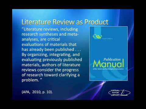Literature Review Definitions