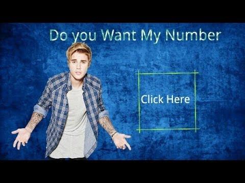 Justin Bieber's Real Phone Number 2017