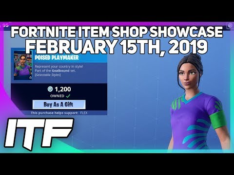 Fortnite Item Shop SOCCER SKINS ARE BACK! [February 15th, 2019] (Fortnite Battle Royale) thumbnail