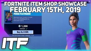 Fortnite Item Shop SOCCER SKINS ARE BACK! [February 15th, 2019] (Fortnite Battle Royale)
