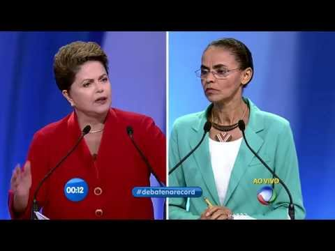 DILMA QUESTIONA MARINA SILVA SOBRE CPMF - DEBATE PRESIDENCIÁVEIS RECORD 28/09 - ELEIÇÕES 2014