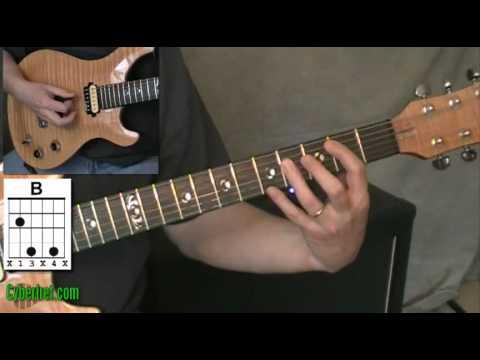 B Major Guitar Chord Youtube