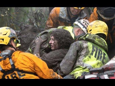 Huge mudslide hits Southern California