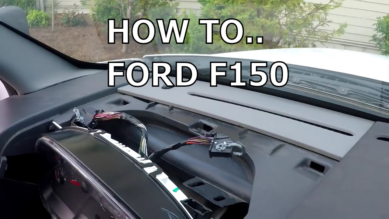 How to fix dashboard lights and dash board mileage screen Ford F150 Old Blinking F Wiring Diagram on