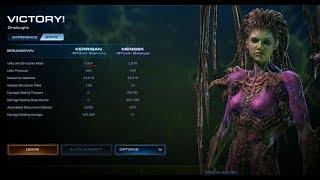 Starcraft 2 Co-Op Mutation - 187 Onslaught Kerrigan (Lurkers-Hydra)