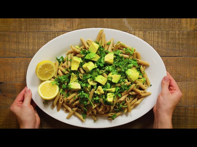 Whole Wheat Penne Pasta With Avocado and Arugula