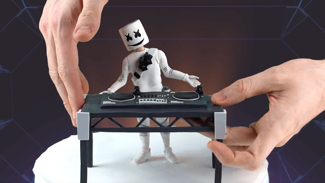 Marshmello Concert (Fortnite Battle Royale) – Polymer Clay Tutorial