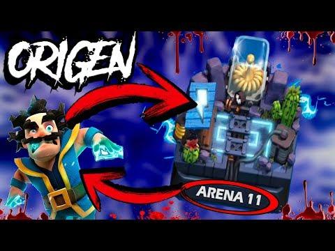 El origen la arena electrovalle de clash royale