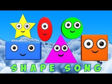 Shapes Song  learn shapes  kids learning  nursery rhymes  childrens songs
