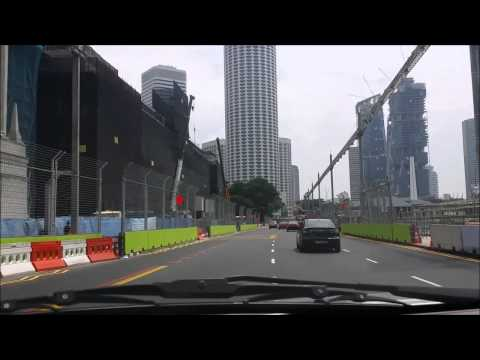 A Ride in 2014 F1 Singapore GP Marina Bay Street Circuit