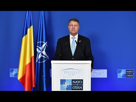 25 mai 2017 Declaratia Presedintelui Klaus Iohannis, sustinuta la finalul Summitului NATO