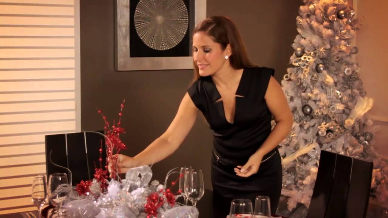 Consejos para decorar tu mesa esta navidad youtube - Adornos para mesa de comedor rectangular ...