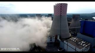 Wyburzenie chłodni kominowej w Elektrowni Będzin Łagisza - 30 sierpnia 2018r.