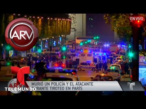 Balean a policías en París, Francia | Al Rojo Vivo | Telemundo