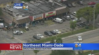 One Shot At Strip Mall In NE Miami-Dade