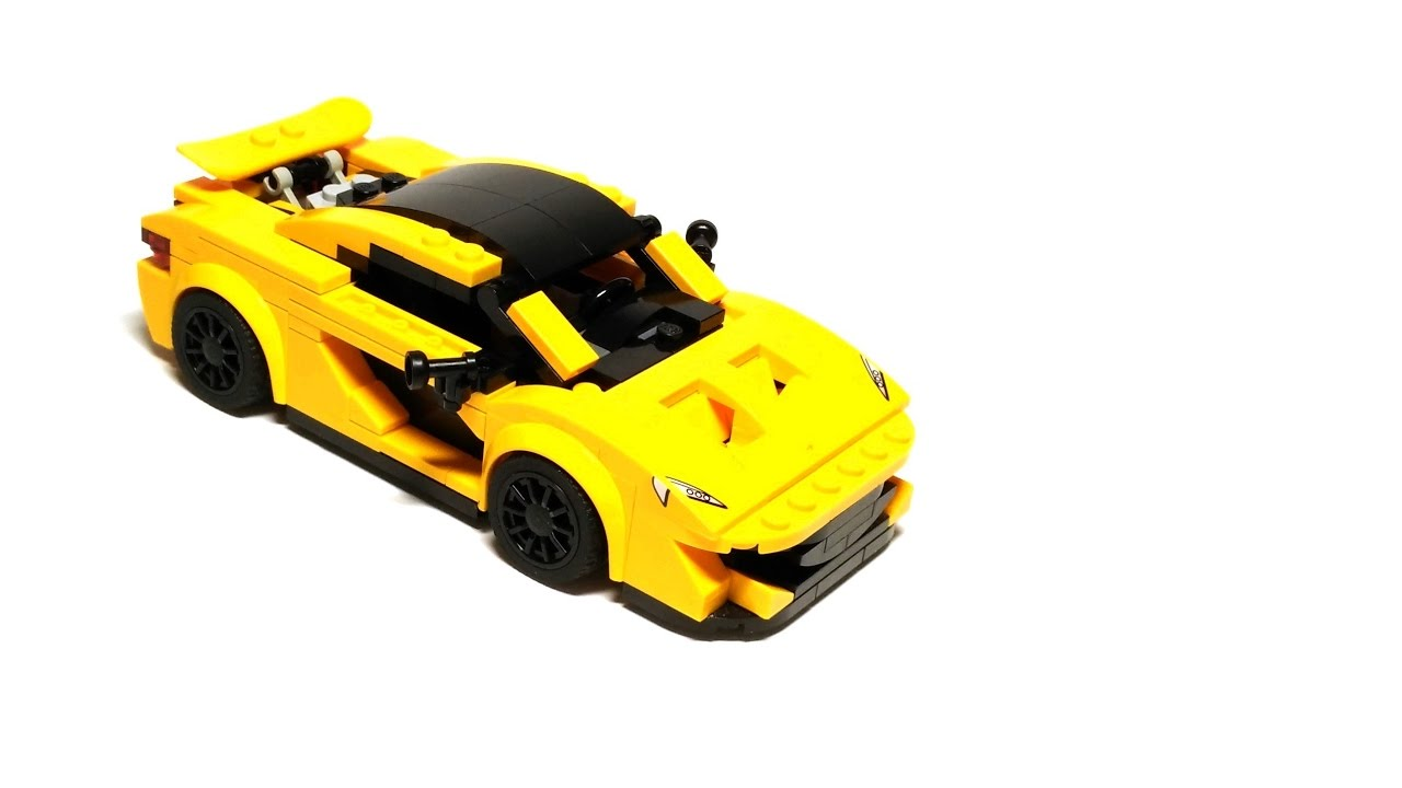 lego mclaren p1 (moc) version 1.2 with instructions - youtube