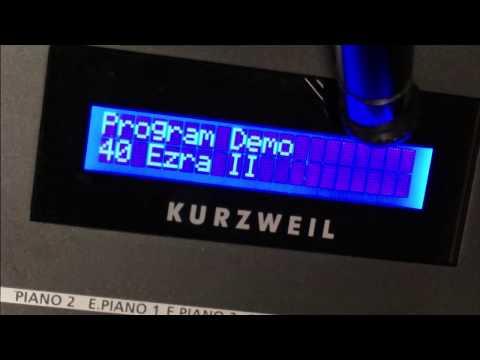 Kurzweil Artis SE - The 128 programs of Bank A - DEMO