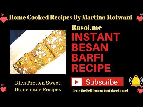 Instant Besan Barfi Recipe | besan ki barfi recipe | besan barfi Rasoi.me #Rakhi2020 #Stayhome