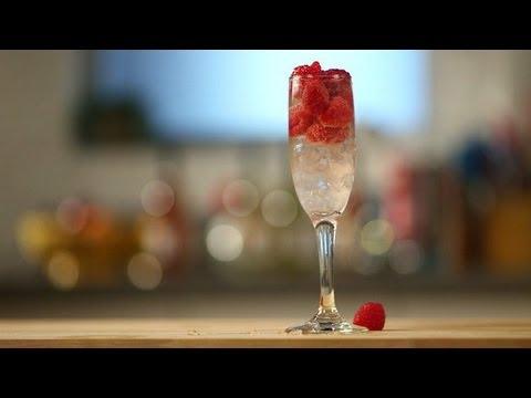 Lemon Raspberry Fizz Recipe | Champagne Cocktails | Happiest Hour
