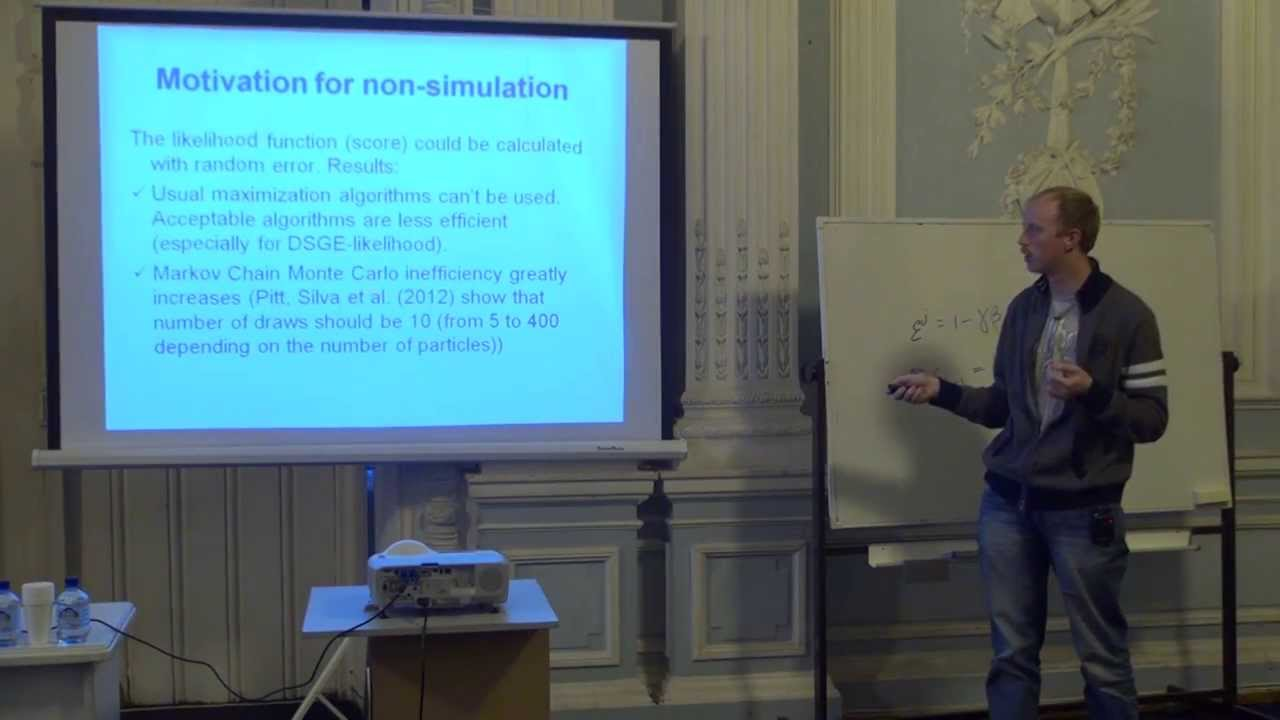 Сергей Иващенко  Estimating nonlinear DSGE models with moments based methods