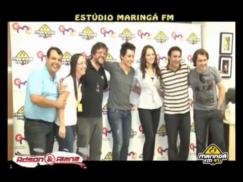 Adson e Alana No Estúdio Show Maringá FM - Me Esqueça
