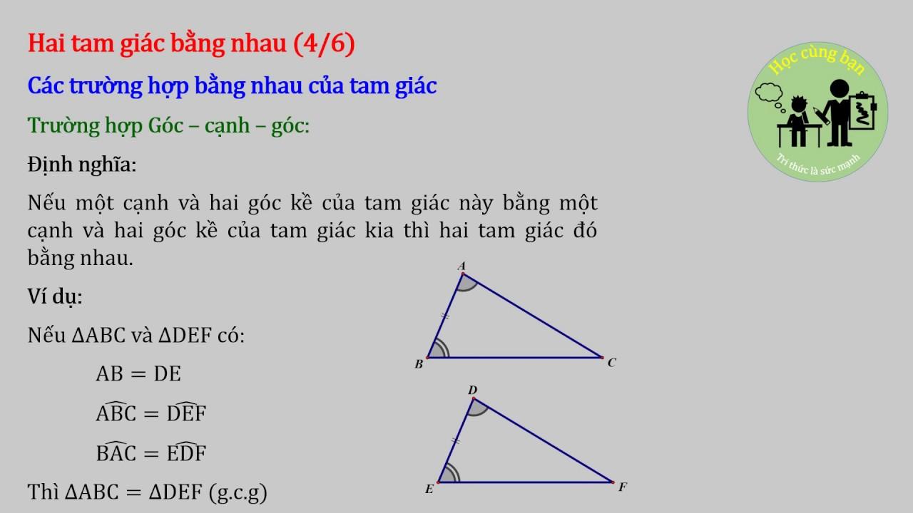 [Hình học 7] Các kiến thức cần ghi nhớ – Học kì I