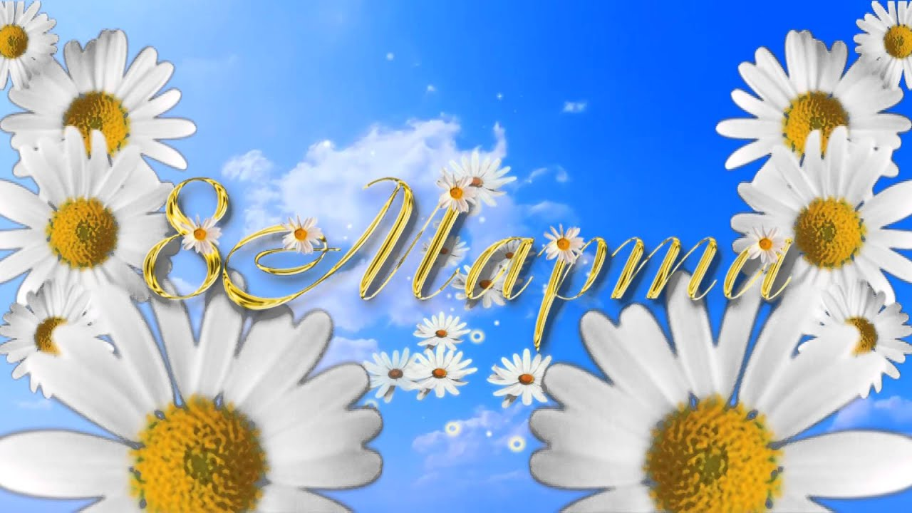 Открытка 8 марта ромашки, открытка