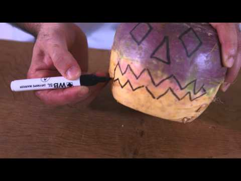 How To Carve a Traditional Halloween Turnip
