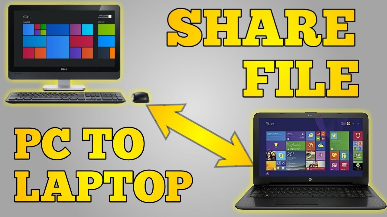 How To Share Files Between Two Computers Or Laptops Youtube Connect Up Four Wired Pcs And Internet Printers Digital