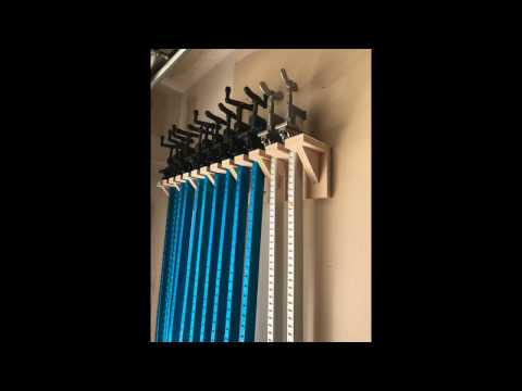 Aluminum Bar Clamp Rack