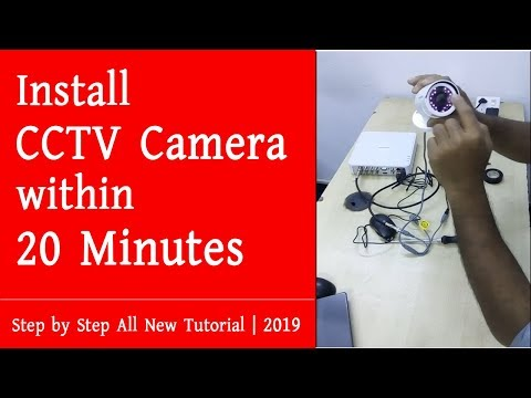 How to Install Hikvision CCTV Camera and DVR Step by Step Process | 2019