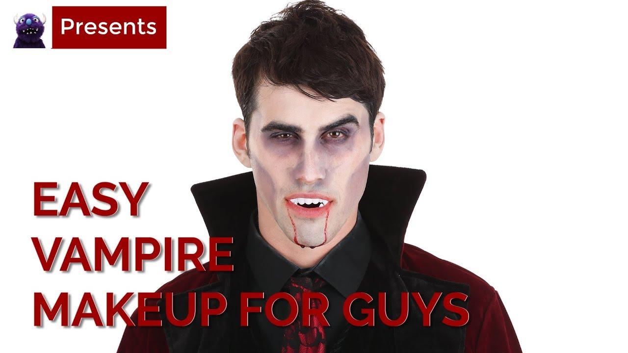 Easy Vampire Makeup Tutorial for Guys