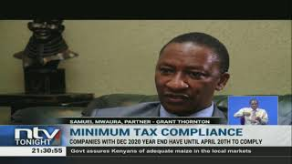 Companies have until April 20th to comply with minimum tax