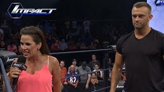 """Mickie James Challenges James Storm On His Statement About """"Adding New Members"""".. (Jul. 1, 2015)"""