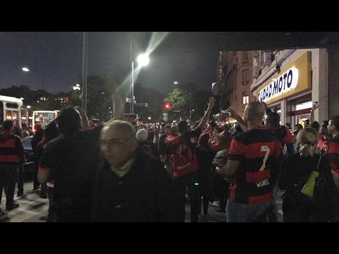 Ao Vivo da concentração da Torcida do Flamengo em Buenos Aires!