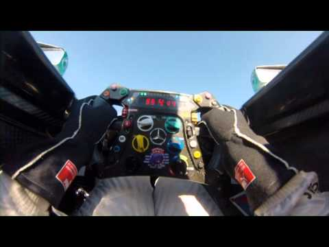 The Mercedes Steering Wheel with Lewis Hamilton