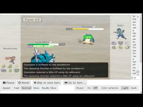 Pokemon Showdown Generation 4 OU Wifi Battle luisz(Gemking) vs nootscope Epic match