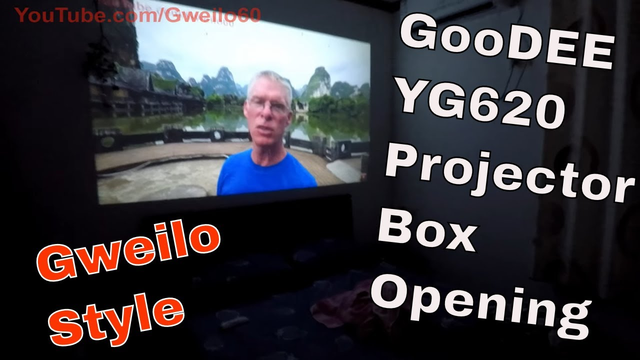 Gweilo 60's First BOX OPENING - GOODEE YG620 PROJECTOR