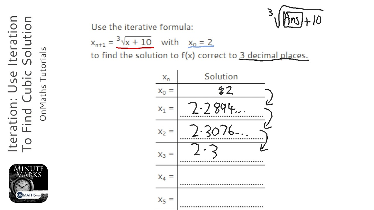 Iteration: Use Iteration To Find Cubic Solution (Grade 9) - OnMaths GCSE Maths Revision